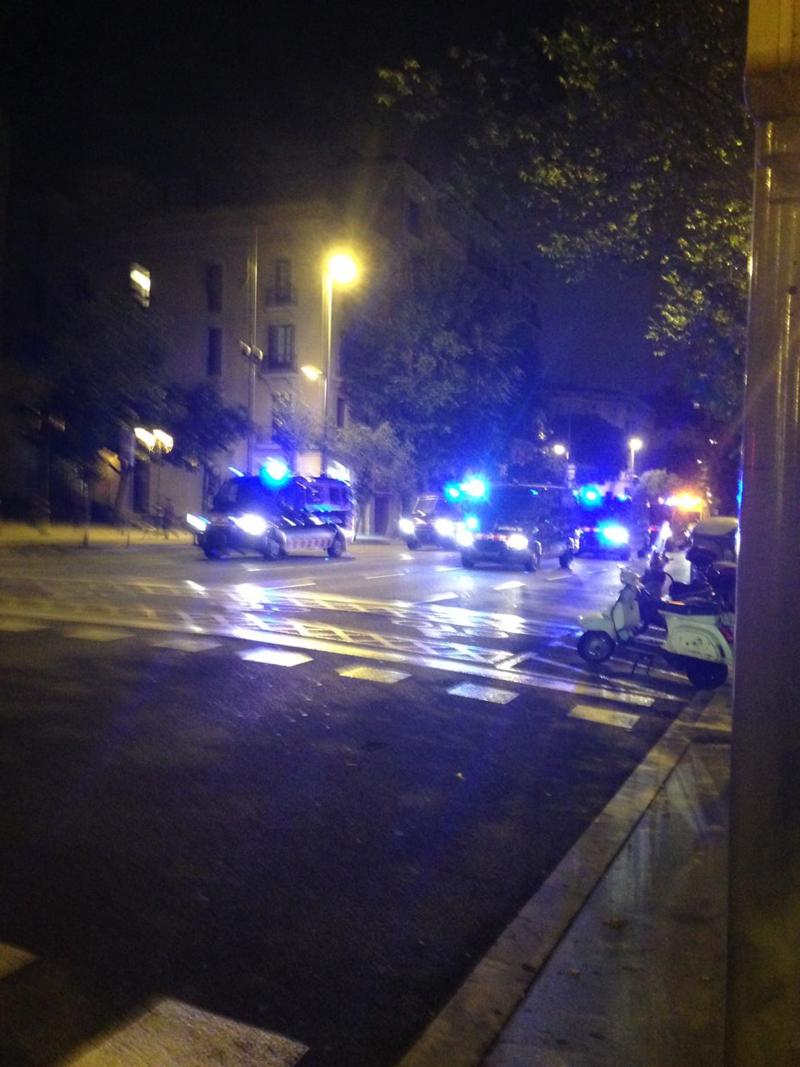 Protest cops