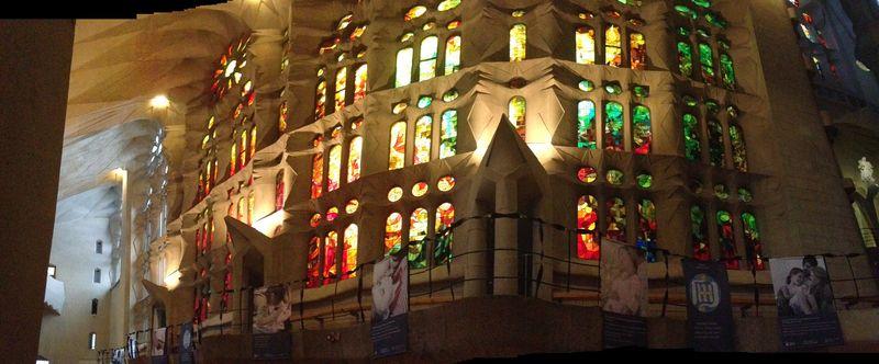 Segrada stained glass