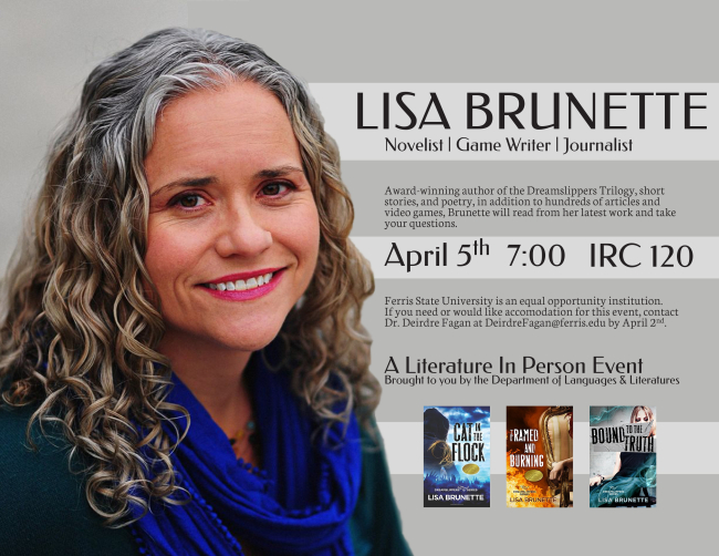 Upcoming Appearance: Author Reading at Ferris State University